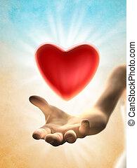 udzielanie, serce