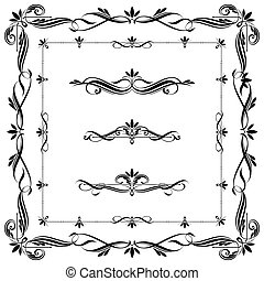 układa, komplet, calligraphic