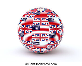 uk, usa bandera, ikona