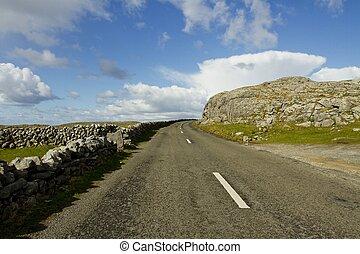 ulica, krajobraz, irlandia