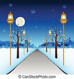 ulica, zima