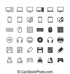 umożliwiać, normalny, ikony, state., komputer, included