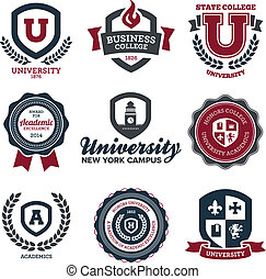uniwersytet, kolegium, grzebienie