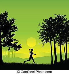 uprawiający jogging, samica