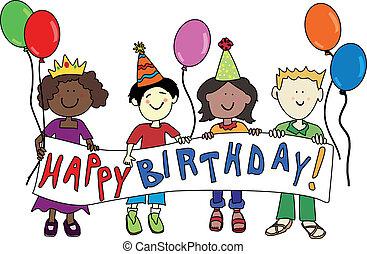 urodziny, multicultural, dzieciaki