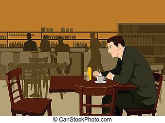 usługiwanie, kawiarnia