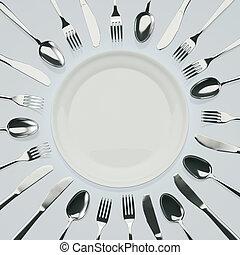 usługiwanie, obiad