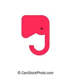 usa, polityczny, znak, słoń, party?america, republikanin, partia., czerwony, ikona