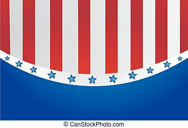usa, styl, wektor, bandera