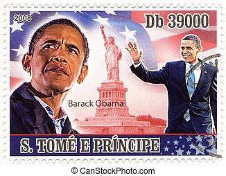 usa, tłoczyć, -, barack, 44th, prezydent, obama