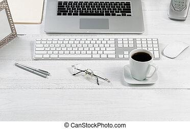 ustawianie, zorganizowany, skuteczność, praca, desktop