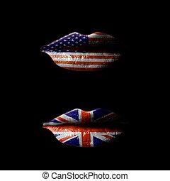 usteczka, bandera, usa, uk