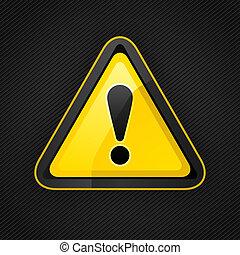 uwaga, metal, powierzchnia, znak, ostrzeżenie, ryzykować