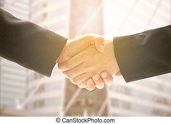 uzgodnienie, pojęcie, agreement., do góry, biznesmen, meeting., zrobienie, ostatni
