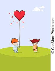 valentine dzień karta, sprytny
