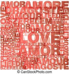 valentine, serce, miłość, słówko