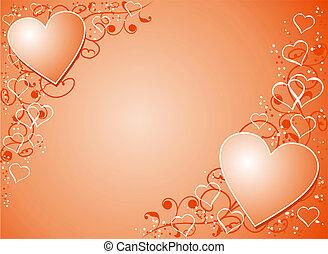 valentine, wektor, tło
