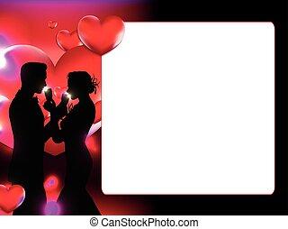 valentine, zdejmować budowę, ilustracja, wektor, dzień