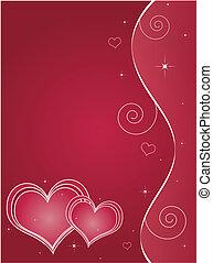 valentines dzień, karta, powitanie