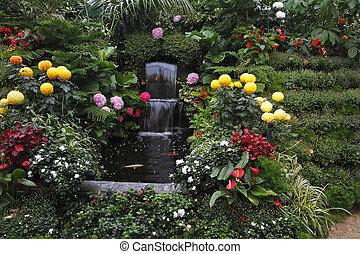 vancouver, wspaniały, fontanna, wyspa
