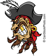 vect, maskotka, kapelusz, pirat, rysunek