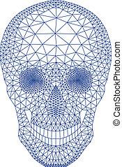 vecto, geometryczny, czaszka, próbka