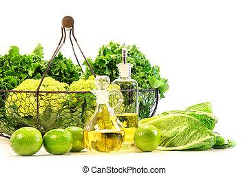 veggies, świeży, ogród, lipy