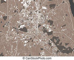 vila, portugalia, gaia, mapa, nova, od, miasto