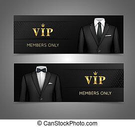 vip, garnitur, bilety, biznesmen, chorągwie, poziomy