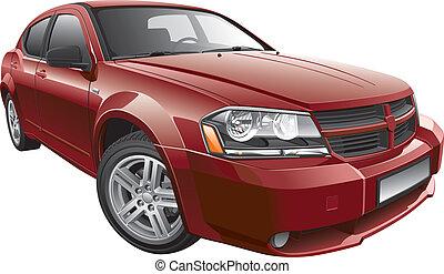wóz, amerykanka, mid-size