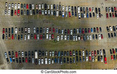 wóz antenowy, los, parking