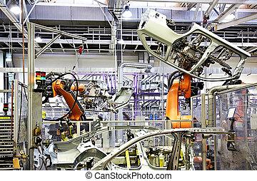 wóz, herb, fabryka, robotic