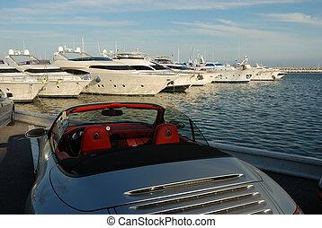 wóz, jacht, luksus