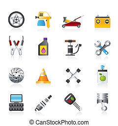 wóz naprawa, przewóz, ikony