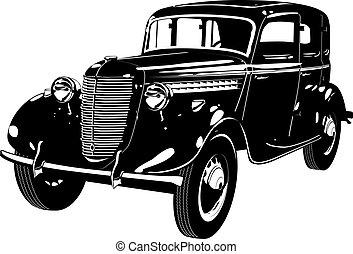 wóz, retro