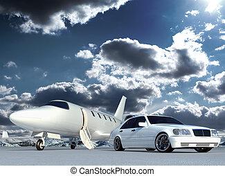 wóz, samolot