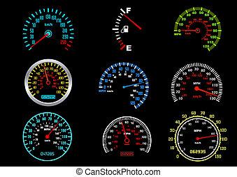 wóz, szybkościomierze