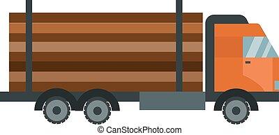 wózek, ilustracja, drewno, odizolowany, budulec