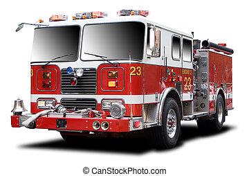 wózek, ogień