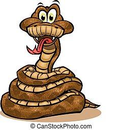 wąż, maskotka, sprytny