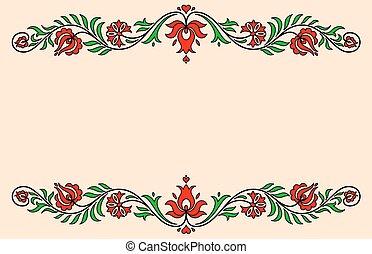 węgierski, rocznik wina, etykieta, tradycyjny, motives, kwiatowy