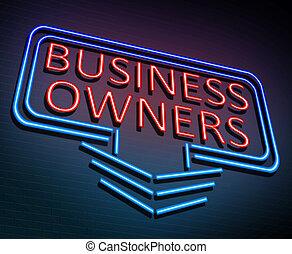 właściciele, concept., handlowy