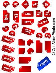 własny, tekst, etykiety, lepki, twój, design., doskonały, sieć, jakiś, odpoczynek, handel, retro., size., cielna, cena, zbiór, redagować, 2.0, aqua, grunge, advertisement., wektor
