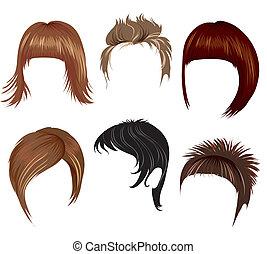 włosy, kobieta, tytułowanie