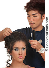 włosy, kompensować