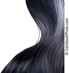 włosy, na, czarnoskóry, biały