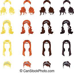włosy, samica