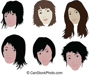 włosy, twarz