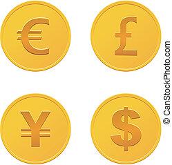 waluta, monety, -, złoty