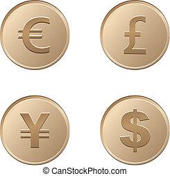 waluta, pieniądz, brąz